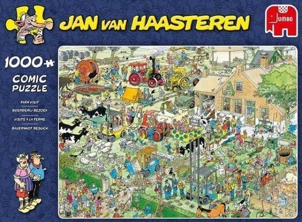 Jan Van Haasteren Puzzel Boerderij Bezoek 1000 Stukjes
